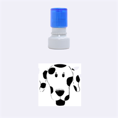 Dalmation cartoon head Rubber Round Stamps (Small)