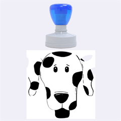 Dalmation cartoon head Rubber Round Stamps (Large)