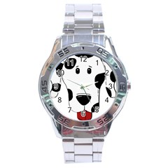 Dalmation cartoon head Stainless Steel Analogue Watch