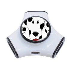 Dalmation cartoon head 3-Port USB Hub