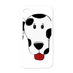 Dalmation cartoon head Apple iPhone 4 Case (White)