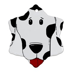 Dalmation cartoon head Snowflake Ornament (2-Side)