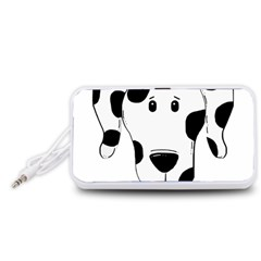 Dalmation cartoon head Portable Speaker (White)