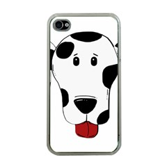 Dalmation cartoon head Apple iPhone 4 Case (Clear)