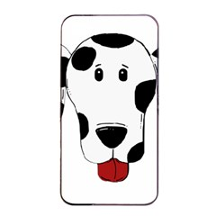 Dalmation cartoon head Apple iPhone 4/4s Seamless Case (Black)