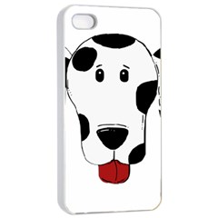 Dalmation cartoon head Apple iPhone 4/4s Seamless Case (White)