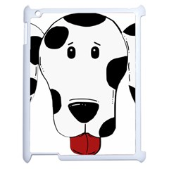 Dalmation cartoon head Apple iPad 2 Case (White)