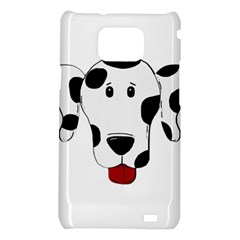 Dalmation cartoon head Samsung Galaxy S2 i9100 Hardshell Case