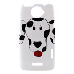 Dalmation cartoon head HTC One X Hardshell Case
