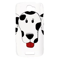 Dalmation cartoon head HTC One S Hardshell Case