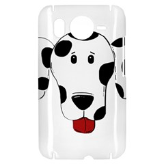 Dalmation cartoon head HTC Desire HD Hardshell Case
