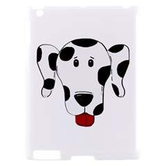 Dalmation cartoon head Apple iPad 2 Hardshell Case (Compatible with Smart Cover)