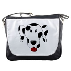 Dalmation cartoon head Messenger Bags