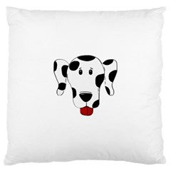 Dalmation cartoon head Large Cushion Case (Two Sides)