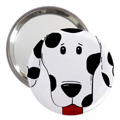 Dalmation cartoon head 3  Handbag Mirrors