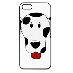 Dalmation cartoon head Apple iPhone 5 Seamless Case (Black)