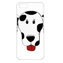 Dalmation cartoon head Apple iPhone 5 Seamless Case (White)