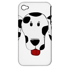 Dalmation cartoon head Apple iPhone 4/4S Hardshell Case (PC+Silicone)
