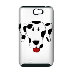 Dalmation cartoon head Samsung Galaxy Note 2 Hardshell Case (PC+Silicone)