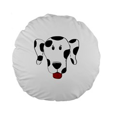 Dalmation cartoon head Standard 15  Premium Round Cushions