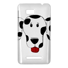 Dalmation cartoon head HTC One SU T528W Hardshell Case