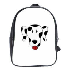 Dalmation cartoon head School Bags (XL)