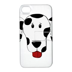 Dalmation cartoon head Apple iPhone 4/4S Hardshell Case with Stand