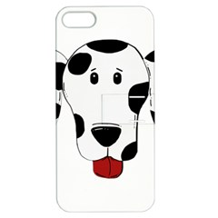 Dalmation cartoon head Apple iPhone 5 Hardshell Case with Stand
