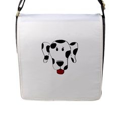 Dalmation cartoon head Flap Messenger Bag (L)
