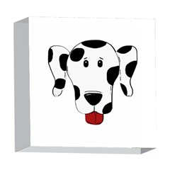 Dalmation cartoon head 5  x 5  Acrylic Photo Blocks