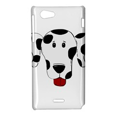 Dalmation cartoon head Sony Xperia J