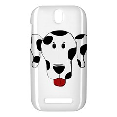 Dalmation cartoon head HTC One SV Hardshell Case