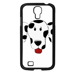 Dalmation cartoon head Samsung Galaxy S4 I9500/ I9505 Case (Black)