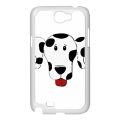Dalmation cartoon head Samsung Galaxy Note 2 Case (White)