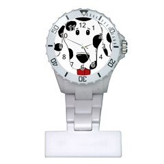 Dalmation cartoon head Plastic Nurses Watch