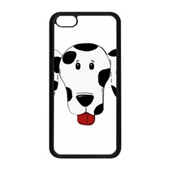 Dalmation cartoon head Apple iPhone 5C Seamless Case (Black)