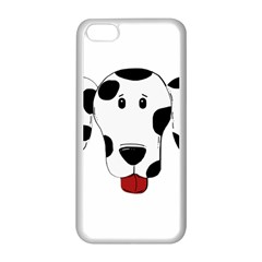 Dalmation cartoon head Apple iPhone 5C Seamless Case (White)