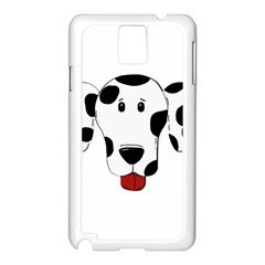 Dalmation cartoon head Samsung Galaxy Note 3 N9005 Case (White)