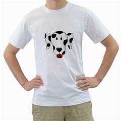 Dalmation cartoon head Men s T-Shirt (White)