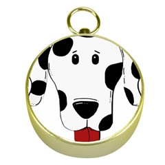 Dalmation cartoon head Gold Compasses