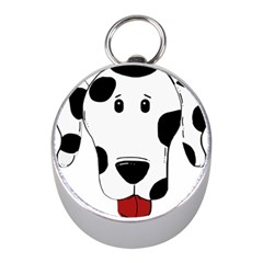 Dalmation cartoon head Mini Silver Compasses
