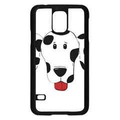 Dalmation cartoon head Samsung Galaxy S5 Case (Black)
