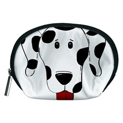 Dalmation cartoon head Accessory Pouches (Medium)