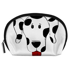 Dalmation cartoon head Accessory Pouches (Large)