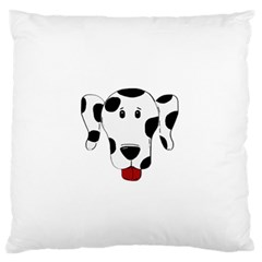 Dalmation cartoon head Large Flano Cushion Case (Two Sides)