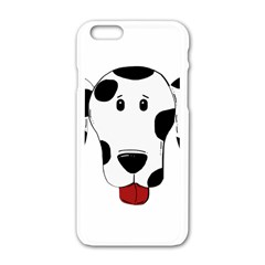Dalmation cartoon head Apple iPhone 6/6S White Enamel Case