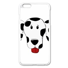 Dalmation cartoon head Apple iPhone 6 Plus/6S Plus Enamel White Case