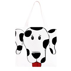 Dalmation cartoon head Grocery Light Tote Bag