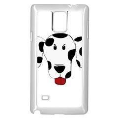 Dalmation cartoon head Samsung Galaxy Note 4 Case (White)