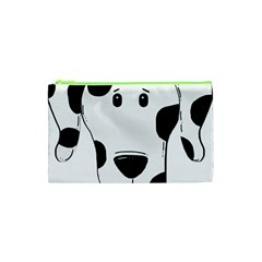Dalmation cartoon head Cosmetic Bag (XS)